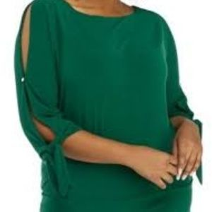 The Limited Canopy Green Blouse, NWT